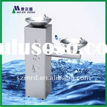 Floor Standing Stainless Steel Drinking Water Fountain (2 basins)
