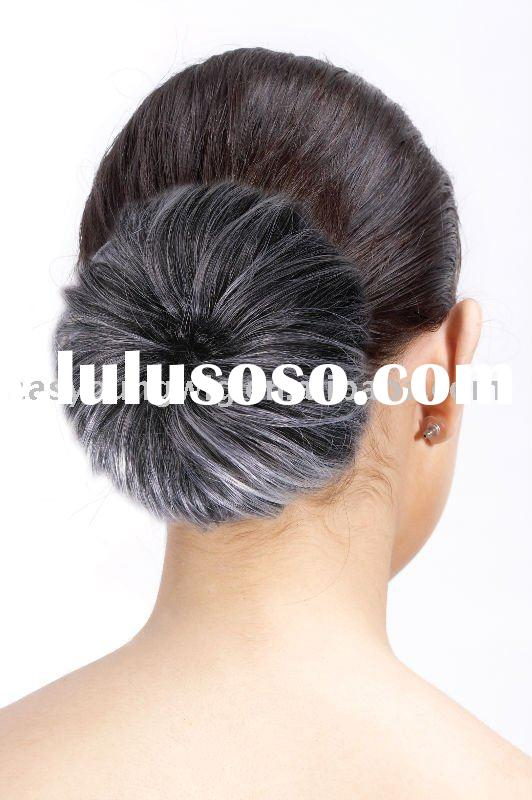 Hot-Sell synthetic fiber chignon,hair dome