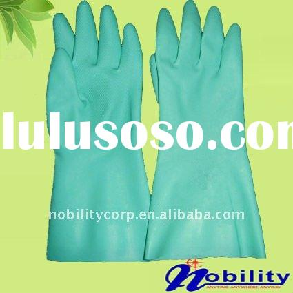 Industrial Nitrile working safety long cuff gloves