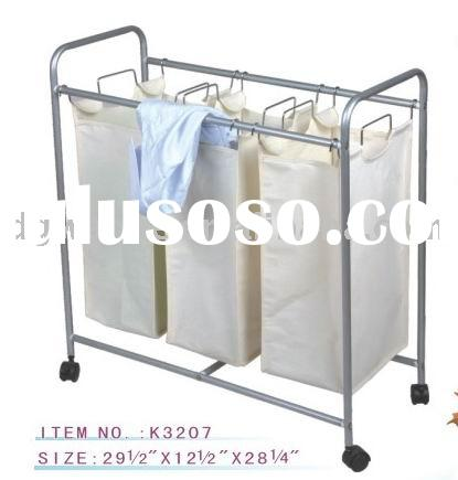 K3207 Cotton laundry basket with wheels
