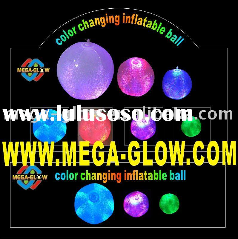 LIGHT UP INFLATABLE BALL,BEACH BALL TOY GAME