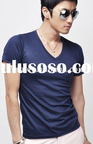Men's fashion cotton t shirt plain t-shirts