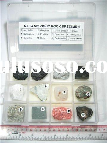 Meta Morphic Rock specimen collection,teaching tool,teaching toy