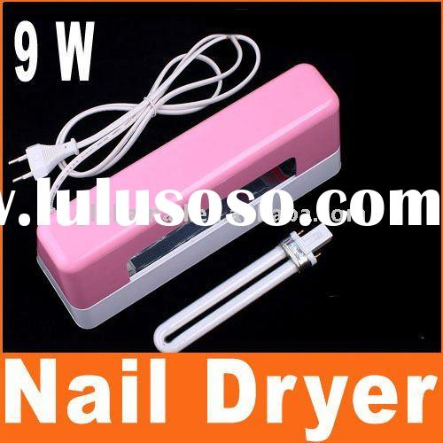 Nail Art Dryer 9W Curing UV GEL Light Bulb Lamp Pink