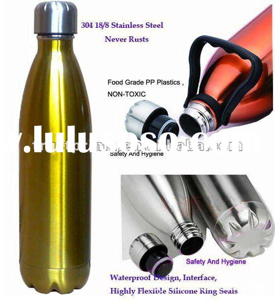 Newest Styler Stainless Steel Coca Shape Bottler Vacuum Thermos Water Bottle(Narrow Mouth)