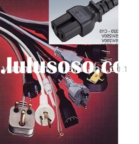Power cord with C15 plug connector cable IEC hot mains lead to Eu UK Aus plug C16 C20 C17