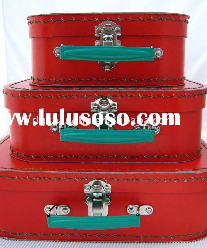 Red Paper Children Suitcase,Paper Suitcase(SL-PS02)