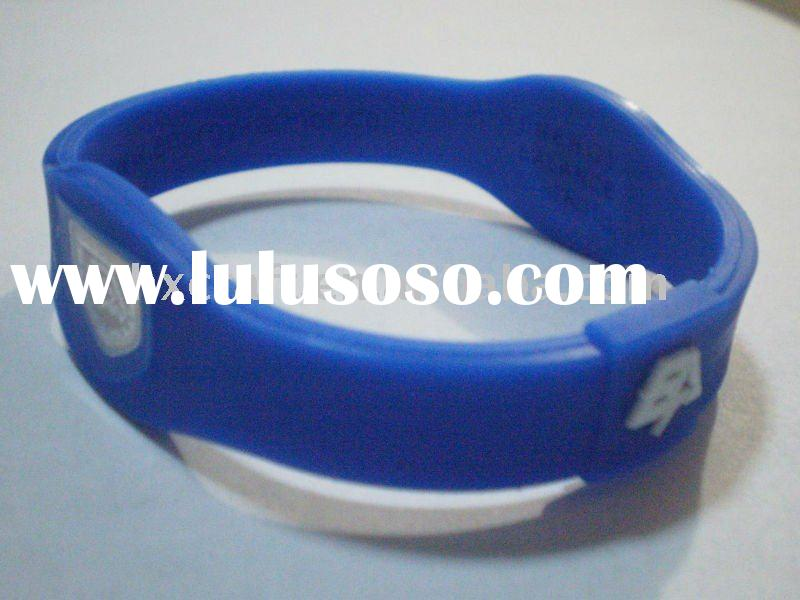 Super custom logo design on Energy Amor silicone wristband