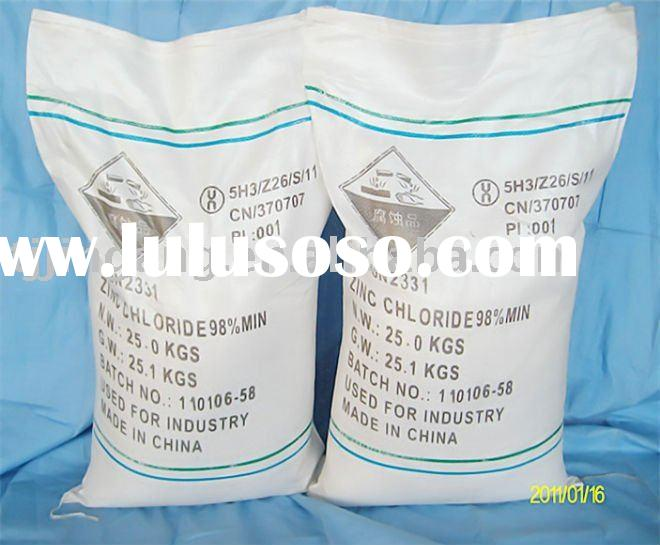 This product mainly used in batteries, activated carbon, welding medicine,Zinc Chloride