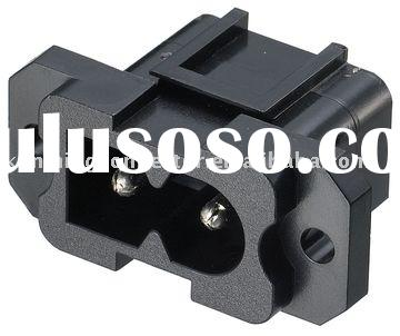 UL Approval Power Inlet Socket (UL, CSA Approved AC Power Connector, HJC-037AP Electrical Safety Jac