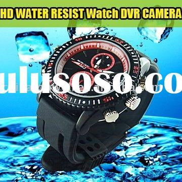 Water Resist HD Digital Watch DVR Camera with Low Illumination Lens