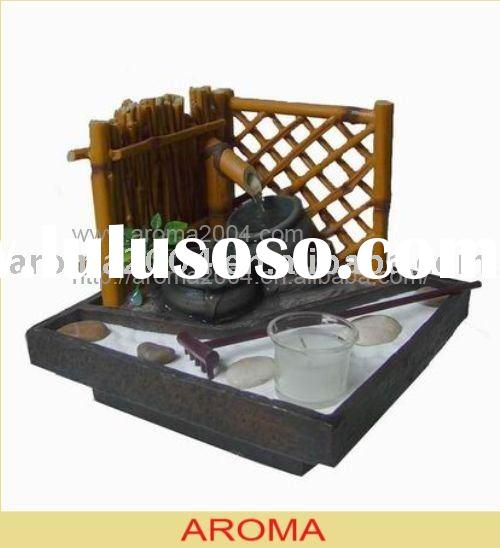 Zen fountain desktop water feature polyresin fountain
