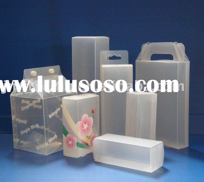 (PET/RPET/PVC/PP) Plastic folding box