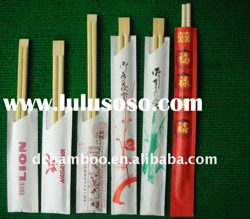 bamboo dinnerware/chinese and Japanese style bamboo chopsticks( paper wrapped)