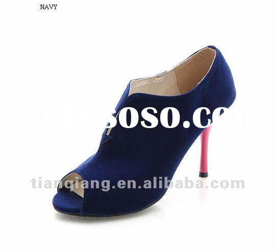 blue red sole women high heel shoes