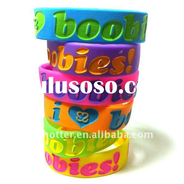 color debossed silicone bracelet