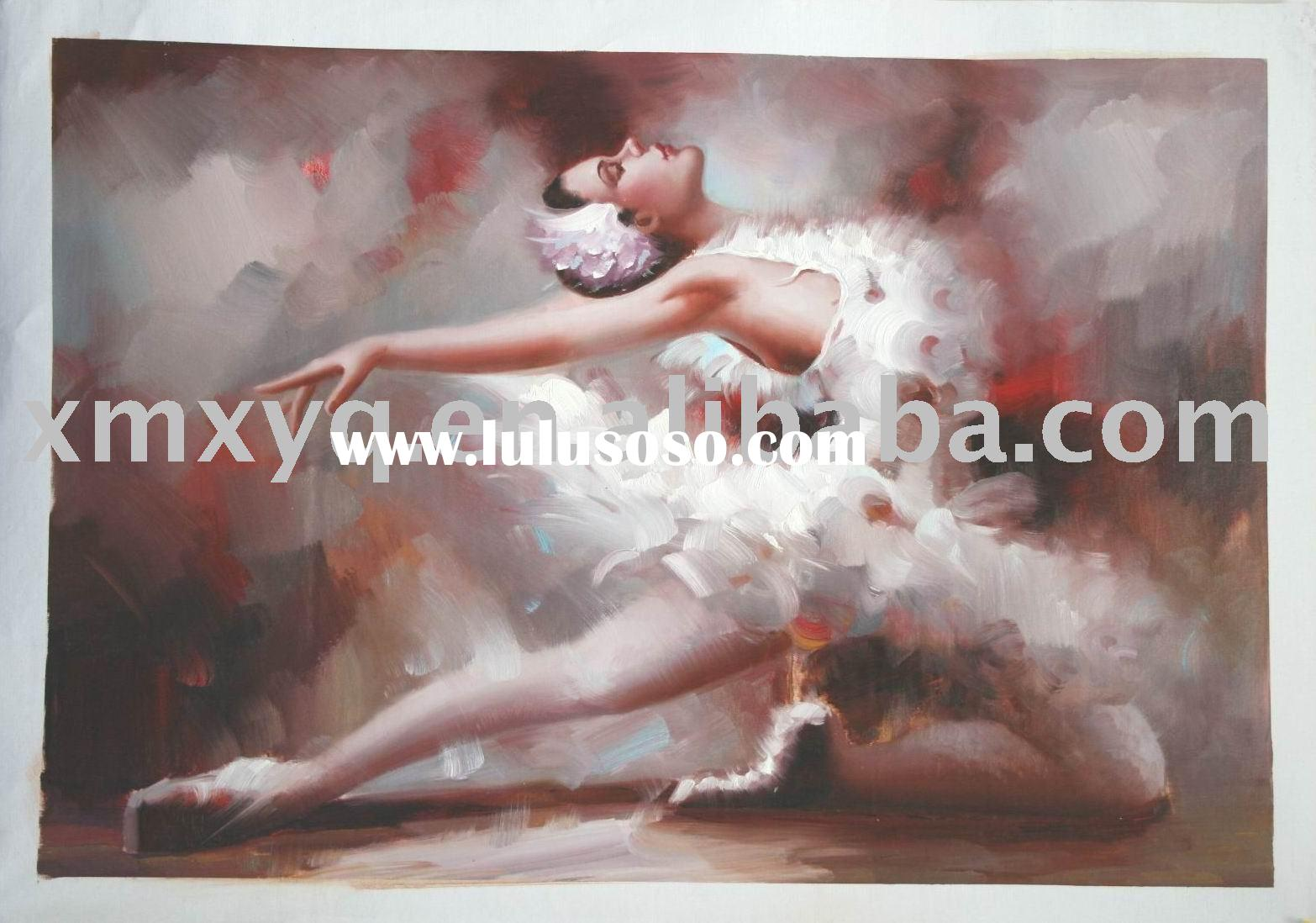 dancer on canvas painting(hand-painted,oil painting)