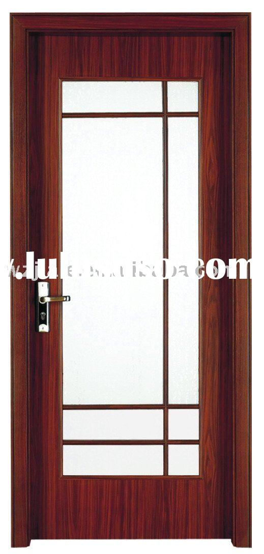 fashion design glass wooden kitchen bathroom sitting room interior door