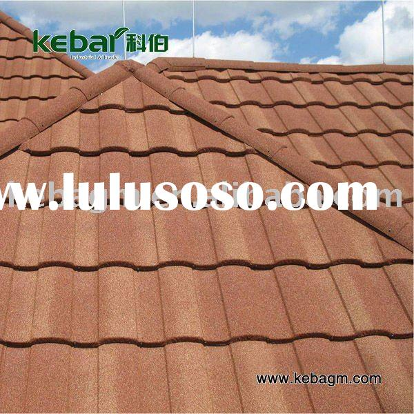keba colorful stone coated metal roof tile