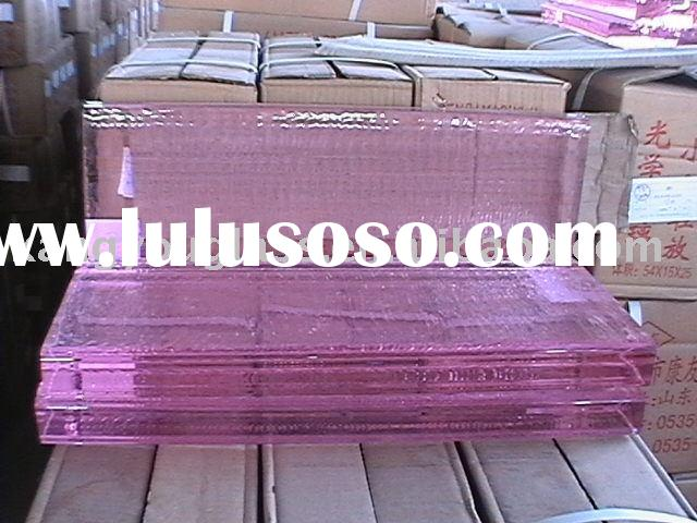 pink crystal glass block