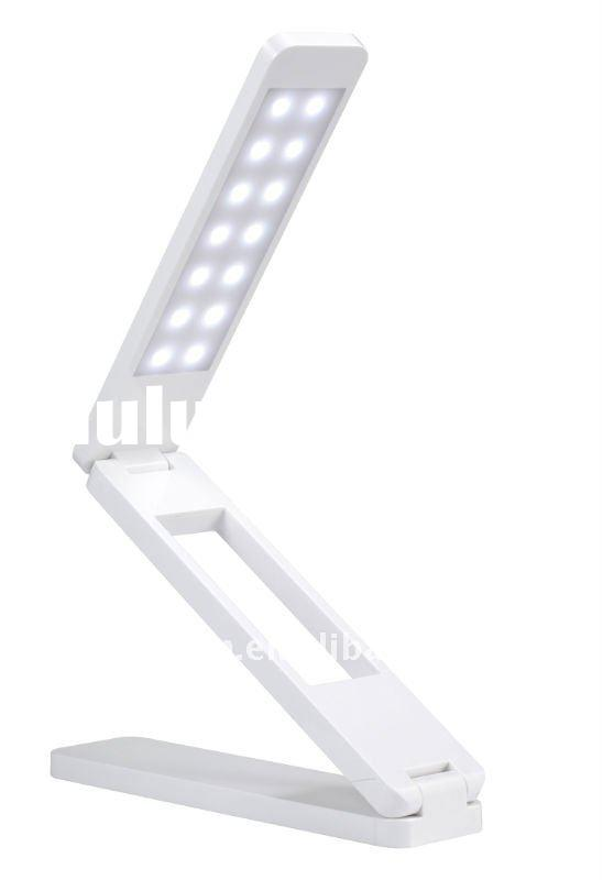 portable foldable LED light with USB charger port