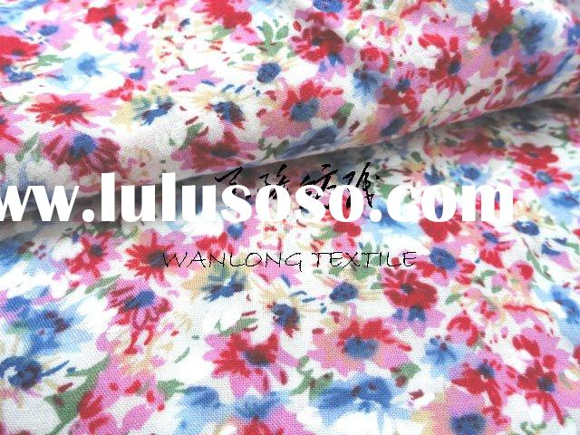 printed cotton fabric for dress,skirt and bed sheet