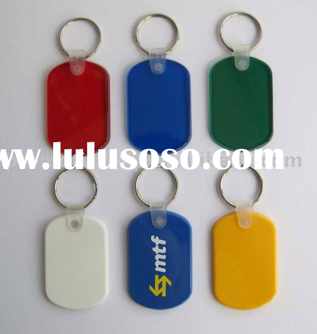 soft PVC key ring tag