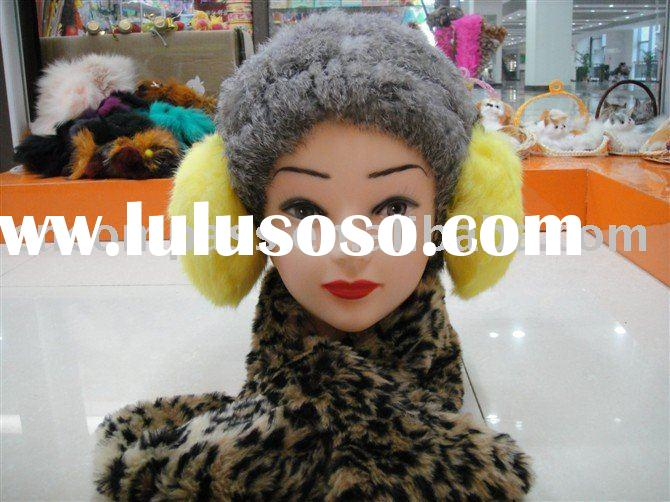 winter sets(rabbit fur muff and hat,faux fur scarf)