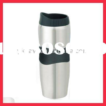 12 OZ Double Wall Stainless Steel Rubber Grip Tumbler
