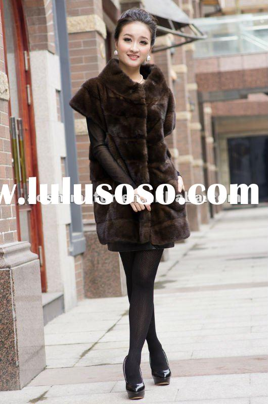 2012 Relaxant fashion women mink clothes,the newest style medium mink coat.