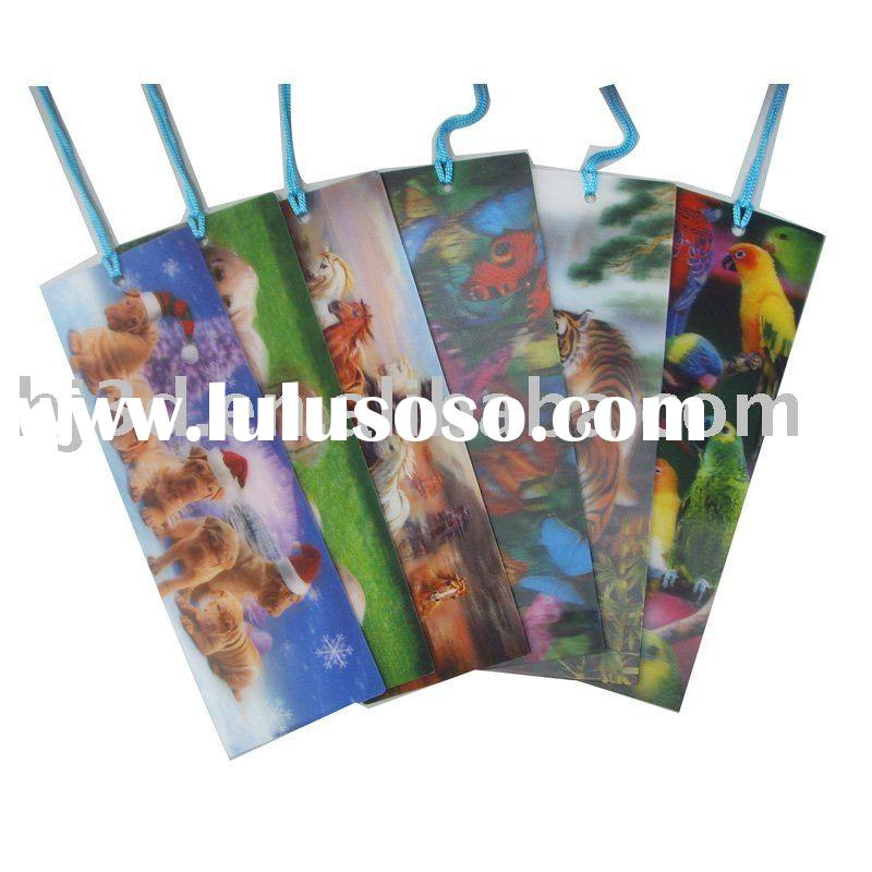 2012 new 3d bookmark for cute animal design