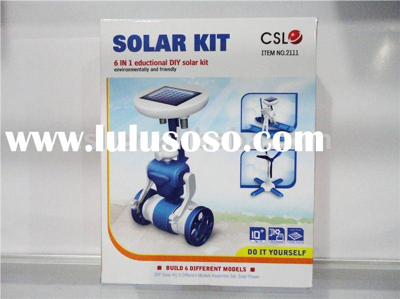 6 in 1 science solar kit toy new DIY solar robot toys