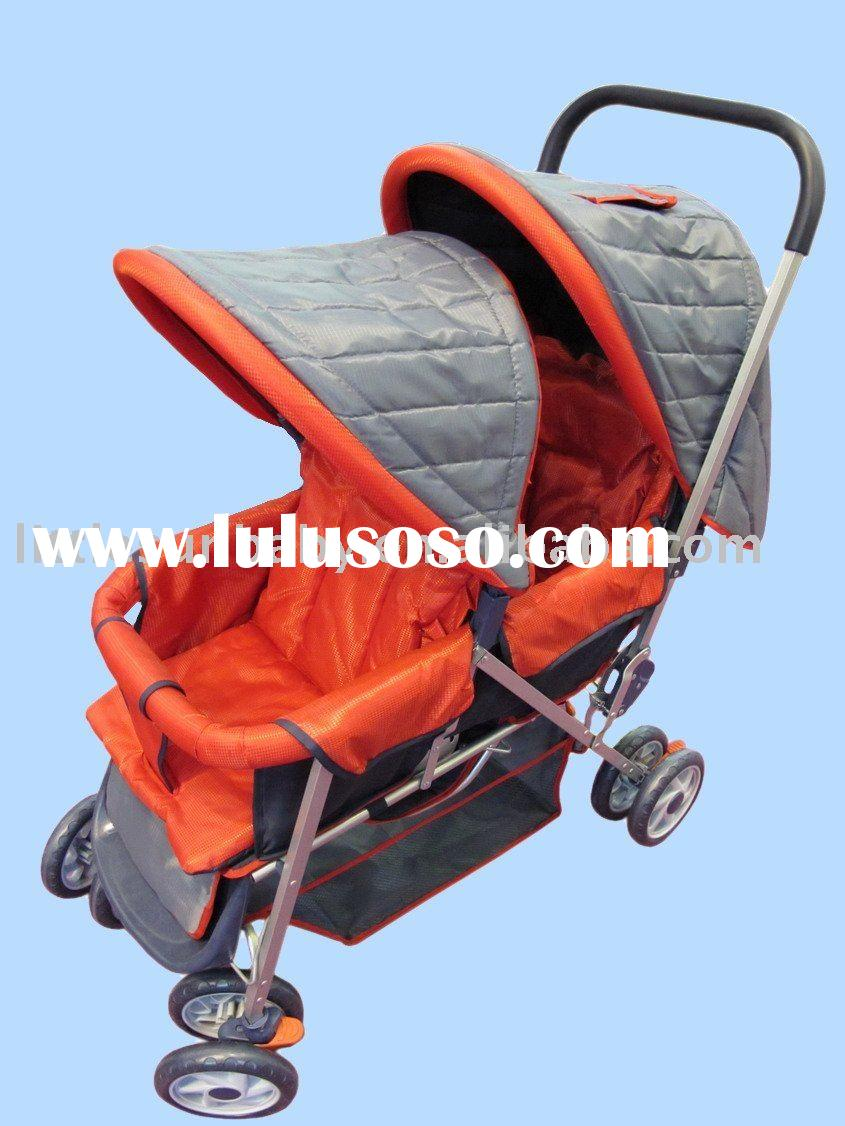 BABY DOUBLE STROLLER with SUN COVER