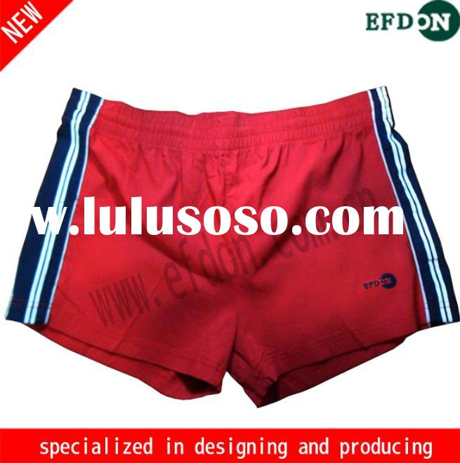 Ladies' red mini shorts/volleyball shorts