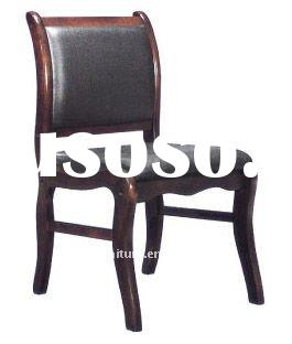 Leather wooden frame meeting chair Antique office Chair