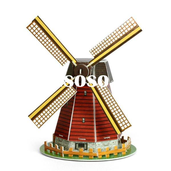 Mini 3d puzzle house Holland windmill