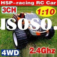 Novelty design! 40cm 3CH 4WD 1:10 RC Car 2.4Ghz HSP Racing Car Radio Control Monster Truck Model Veh
