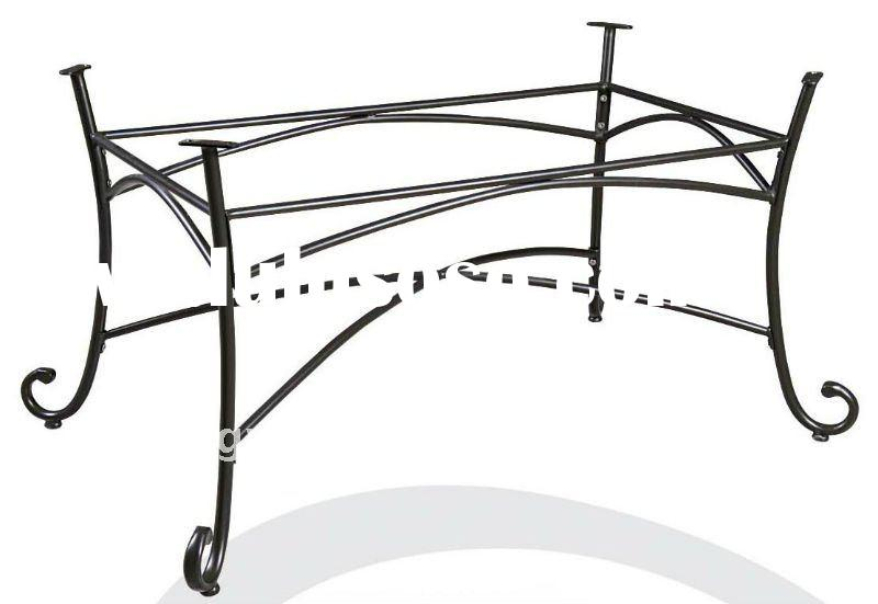 Outdoor Wrought Iron Dining Table Leg Base YB680705