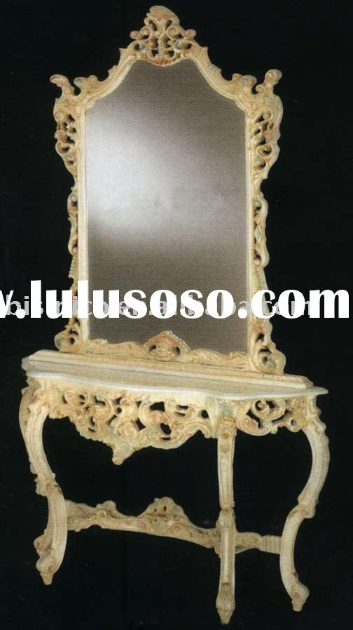 Rococo console table with mirror,gold plated,European style,home furnitures