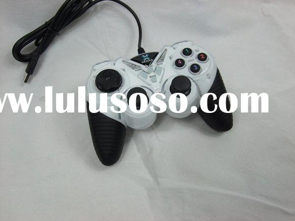 White PC USB Joypad Dual Shock PC Game Controller Gamepad For PS2 PS