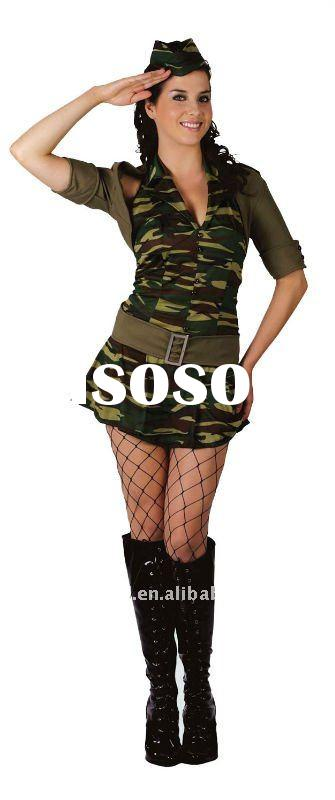 bswc-3529 army lady fancy dress adult party costume