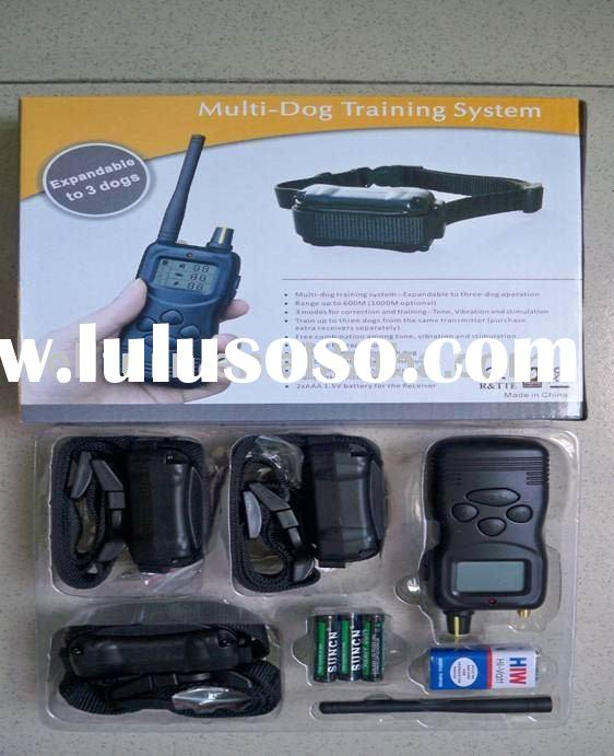 hot sell 1 for 3 remote control multi-dog training collar system with lcd display pet product(WT731C