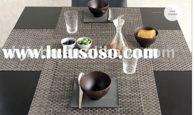 plastic table runners, PVC table runners, woven PVC table runners