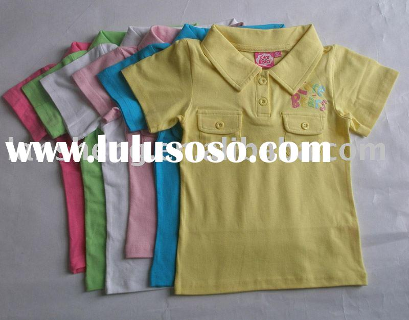 polo shirt,girl's t-shirt,child garment,(you can buy 72pcs with 6color and 4sizes)