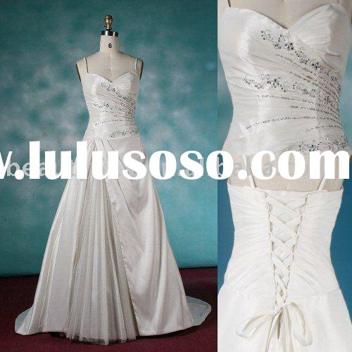 2010 swarovski crystal decorated japanese style wedding dress,bridal gown aster102528