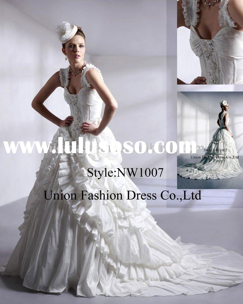 2011 Fashion Wedding Dress with Cathedral train NW1007