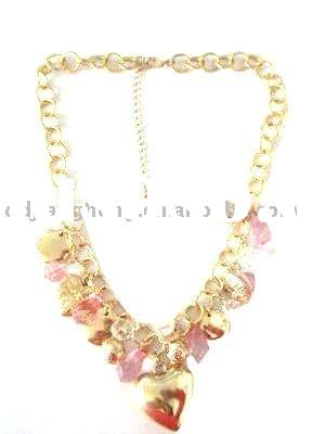 2011 fashion chunky crystal bead necklace