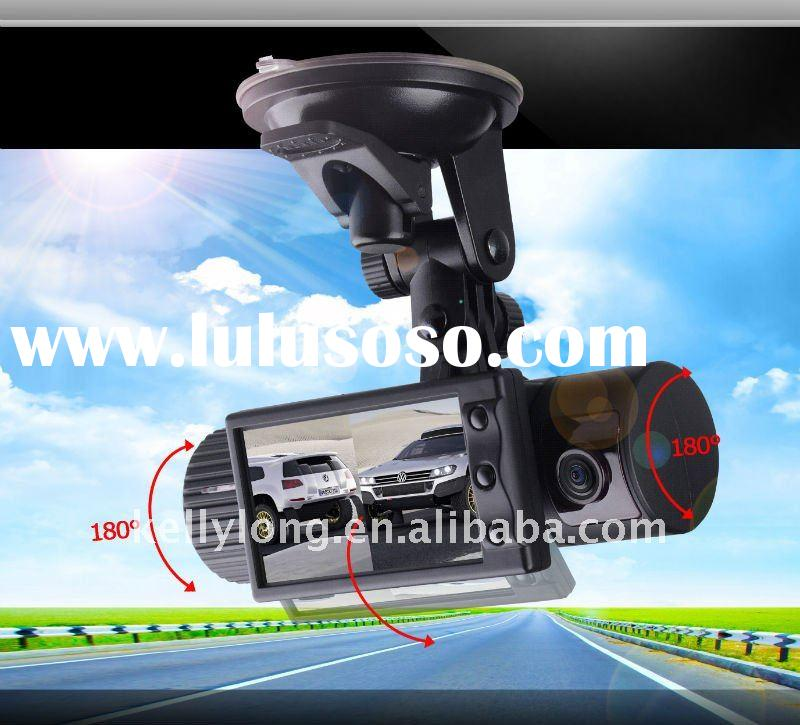2.7 inch TFT LCD screen GPS dual camera car dvr