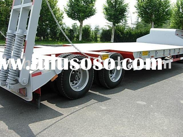 2axles lowbed utility trailer with excellent load capacity