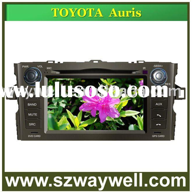 "7"" digital touch screen car gps/car dvd player Toyota Auris support bluetooth/usb,sd/ipod/tv/TM"